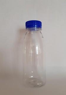 Пластиковая бутылка 0.3 л. (прозрачный, гладкая, широкое горло)