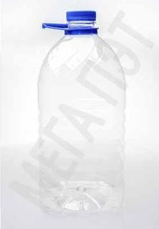 Пластиковая бутылка 5 л. (прозрачный, ребристая)