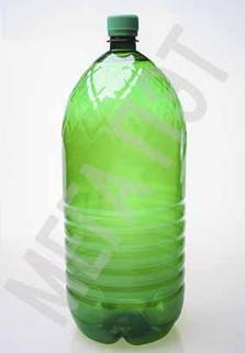 Пластиковая бутылка 3 л. (зеленый, ребристая)