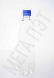 Пластиковая бутылка 0.5 л. (прозрачный, гладкая)