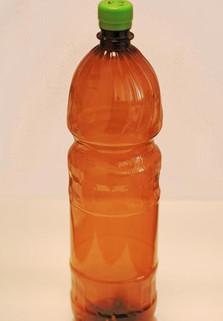 Пластиковая бутылка 1.5 л. (коричневая, гладкая)