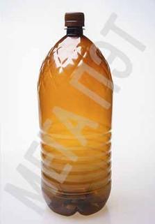 Пластиковая бутылка 3 л. (коричневый, ребристая)