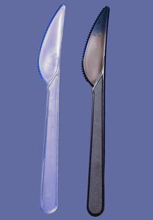 Нож Премиум фас. спайка 50, коробка 2500, прозрачный черный