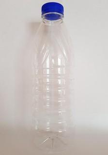 Пластиковая бутылка 0.93 л. (прозрачный, ребристая, широкое горло)