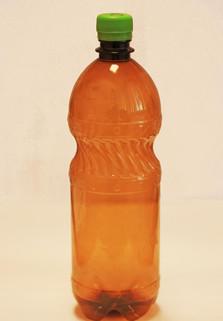 Пластиковая бутылка 1 л. (коричневый, гладкая)
