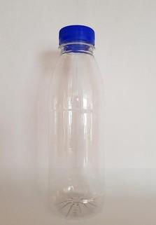Пластиковая бутылка 0.5 л. (прозрачный, гладкая, широкое горло)