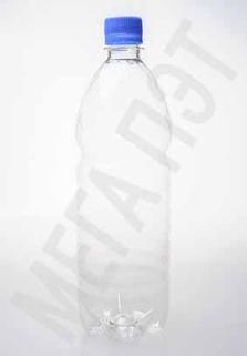 Пластиковая бутылка 1 л. (прозрачный, ребристая)