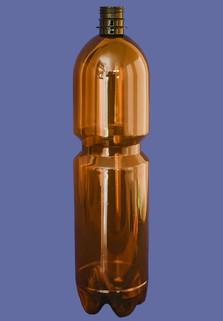 Пластиковая бутылка 1.5 л. (коричневый, гладкая)