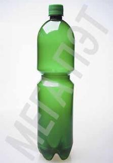 Пластиковая бутылка 1.5 л. (зеленый, гладкая)